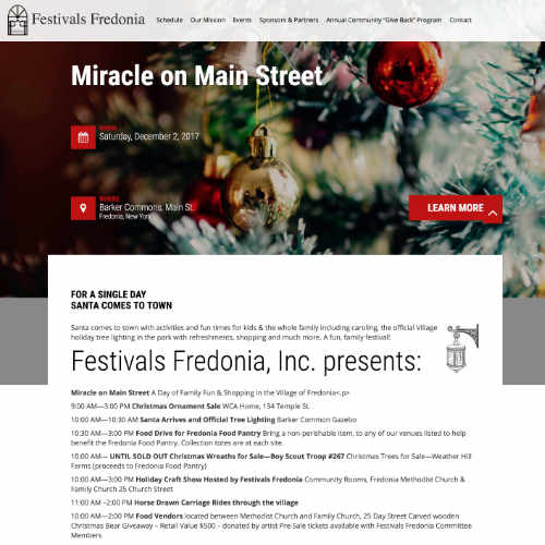 Festivals Fredonia by Luke Weatherlow